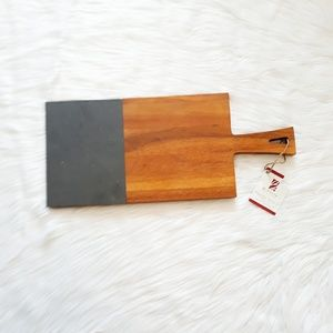 NWT slate & natural acacia wood paddle board